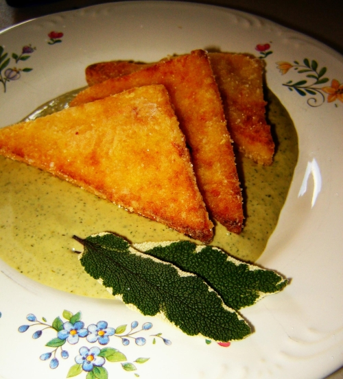 Pumpkin Polenta with Pumpkin Seed Pesto